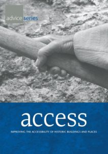 Front cover of the guide shows a black and white close up of an older hand on a handrail.