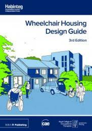 Front cover of the guide. Line drawings of housing using light blue, dark blue and lime green