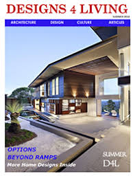 Front cover of magazine showing a graded entry into a home