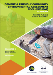 Front cover of the publication has lime green with text and a man bending down to pet a wallaby.
