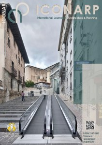 Front cover of the publication showing a long gradual flight of steps in a street with a travellator running beside it. Cinema experience, public space.