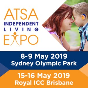 Advertising banner for ATSA independent living expos in Sydney and Brisbane