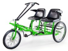 One of the seven Lime designs. A two seater tricycle.