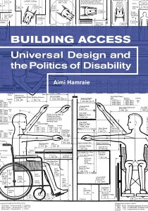 Book cover showing anthropometric diagrams of a wheelchair user
