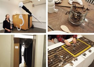 Four pictures of workshop outcomes explained in the article. Universal design as critical design