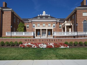 A distance view of Miami University where the study was carried out.