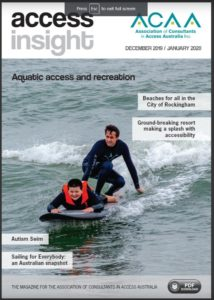 Front cover showing two people surfing in black wet suits. One is laying down on the board the other is standing on it.