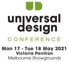 Australian universal design conference 2021 logo.