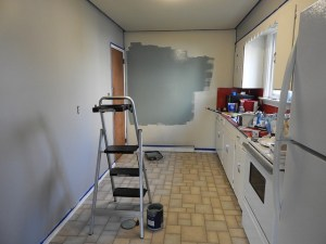 A kitchen in the middle of renovations.