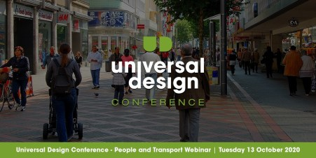Banner for People and Transport Webinar 13 October showing a street scene.