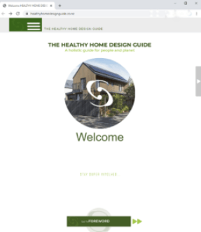 View of the website landing page.