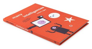 Front cover of the book with graphics on a bright orange background.