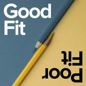 Logo for Good Fit Poor Fit podcast by The Universal Design Project.