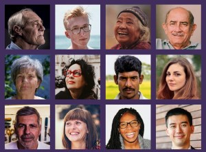 12 Faces representing the 12 personas.