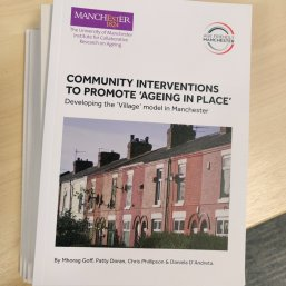 Front cover of the report on ageing in place.
