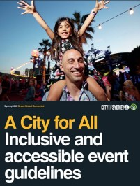 Front cover of City of Sydney guidelines.