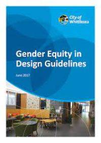 Front cover of the Gender Equity in Design Guidelines.