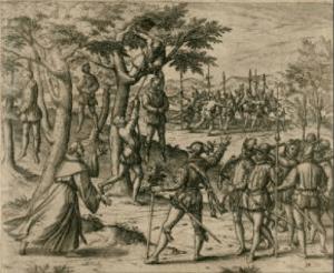Columbus punishes rebellious Spaniards.