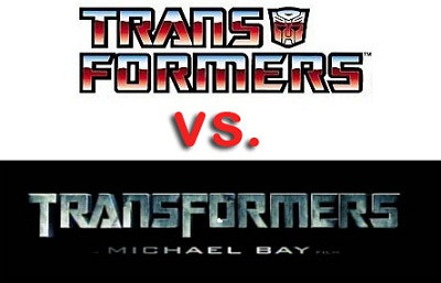 Transformers logo versus