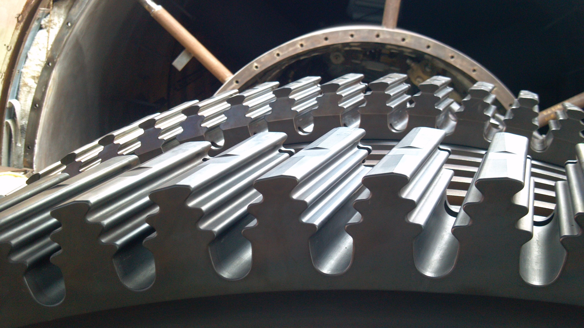 1st 2nd and 3rd Stage Turbine Wheel After Co2 Blasting