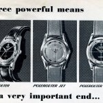 Three polerouter watches in black and white