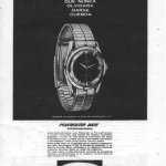 Black and white watch advert