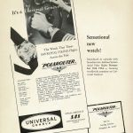 Vintage advert in black and white