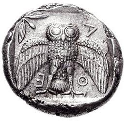 Athenian Dekadrachm Owl