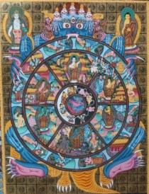 WheelofDharmaLifeUniverseTraditionalThangka