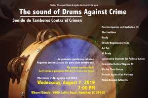 """Comunidad  local se unirá en un evento, """"Sonidos de Tambores Contra el Crimen"""""""