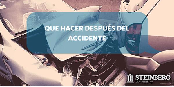 Que hacer después de un accidente