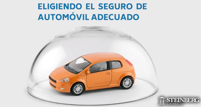 Eligiendo  el seguro de automóvil adecuado para la cobertura que necesita