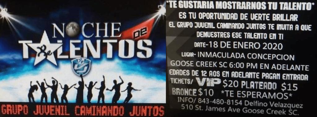 En iglesia, presentaran  Noche de Talentos el 18 de enero