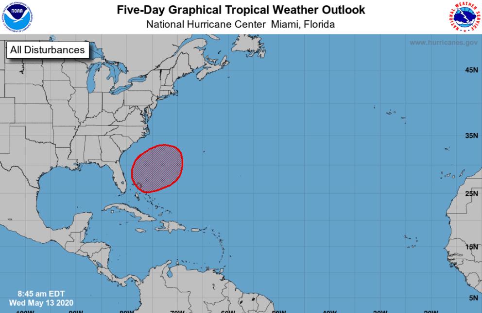 NHC: Tormenta subtropical quizás se forme en el Atlántico para este fin de semana