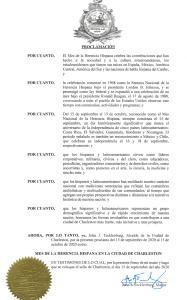 Alcalde de Charleston imite una  proclamación por el 'Mes de la Herencia Hispana'