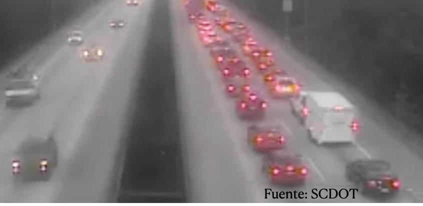 Un choque en la carretera  I- 526 provoca congestion en el tránsito