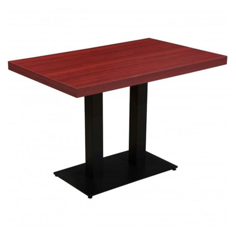 table haute de cafe restaurant et horeca dublin acajou 70x110 cm hauteur 108 cm