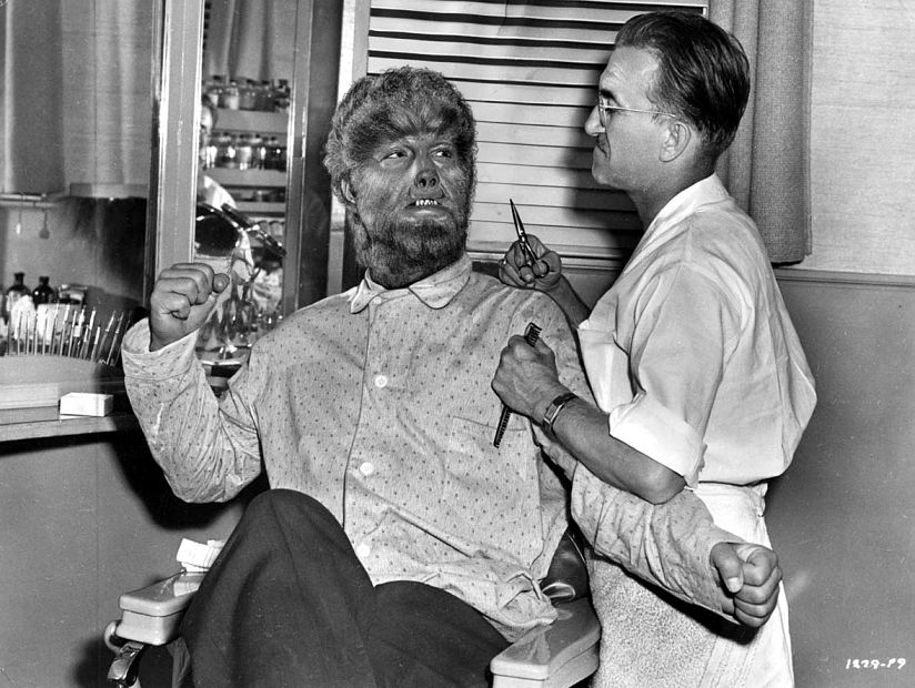 Jack Pierce and Lon Chaney, Jr.