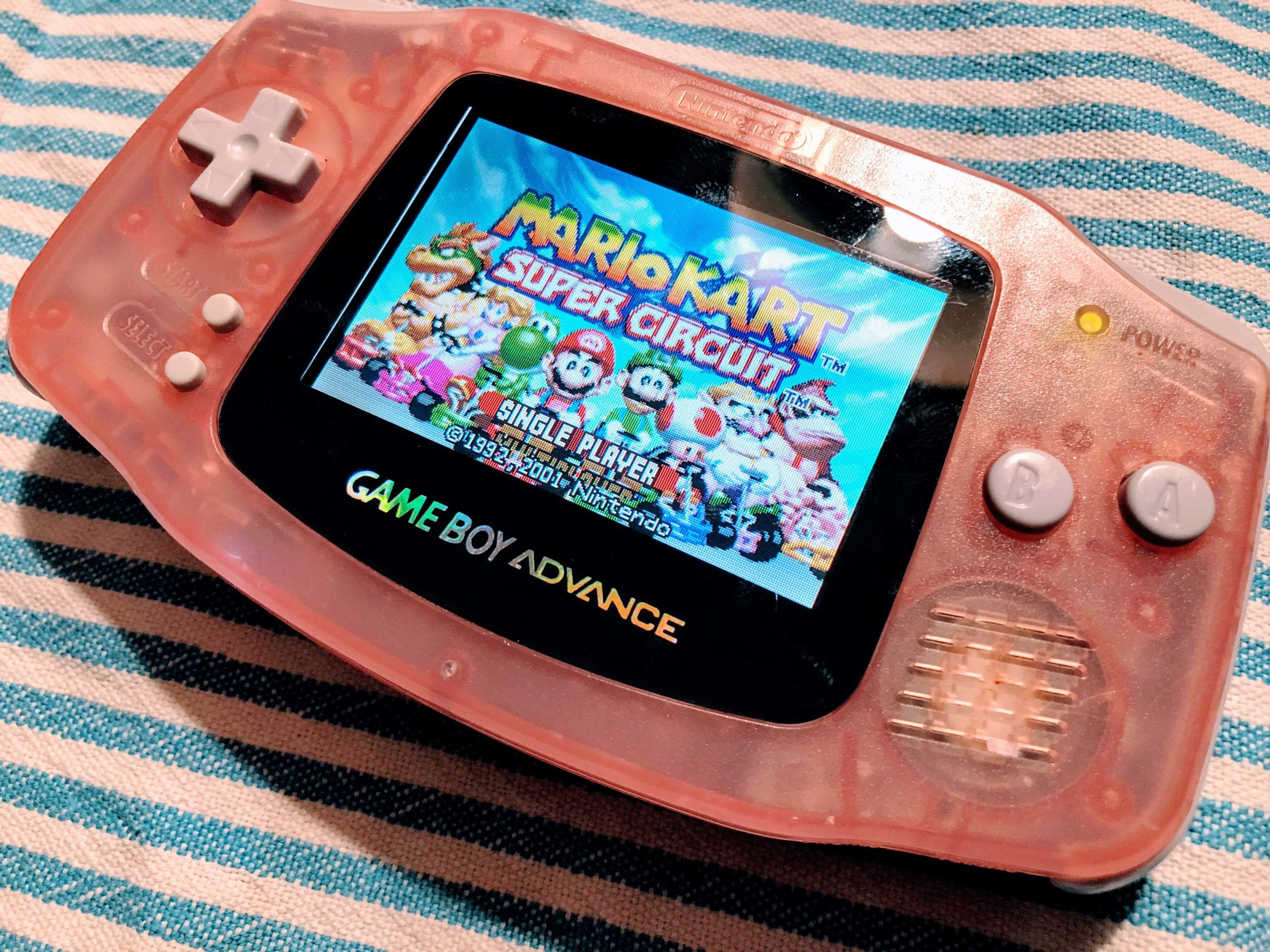 AGS-101-Display im Gameboy Advance
