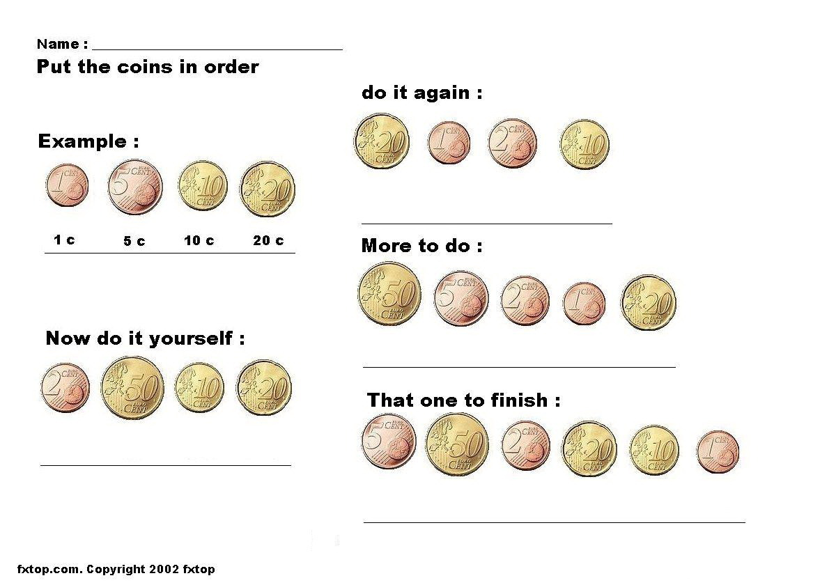 Us Coin Values Worksheet