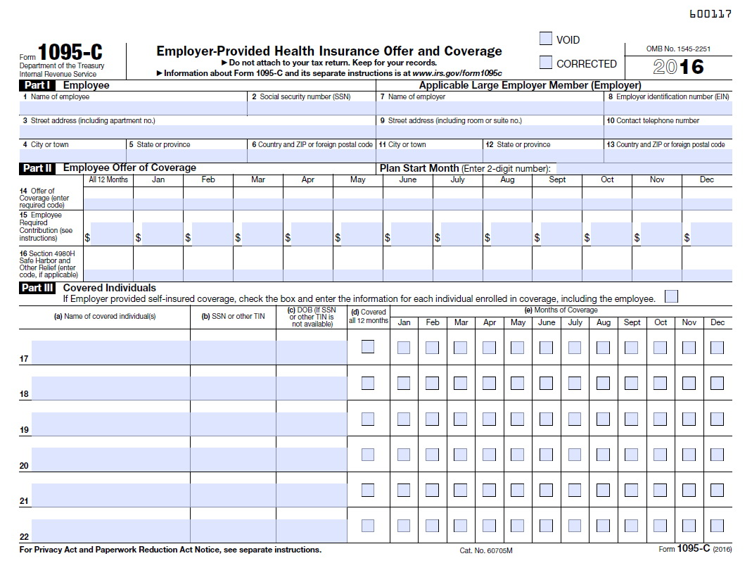 Affordable Care Act Tax Forms