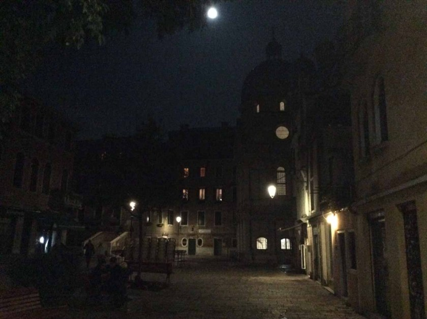 Full Moon over the church of the Miracoli, Venice