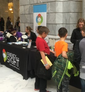 Nonprofits set up displays in the rotunda of the Capitol to gain the attention of legislators and the community.