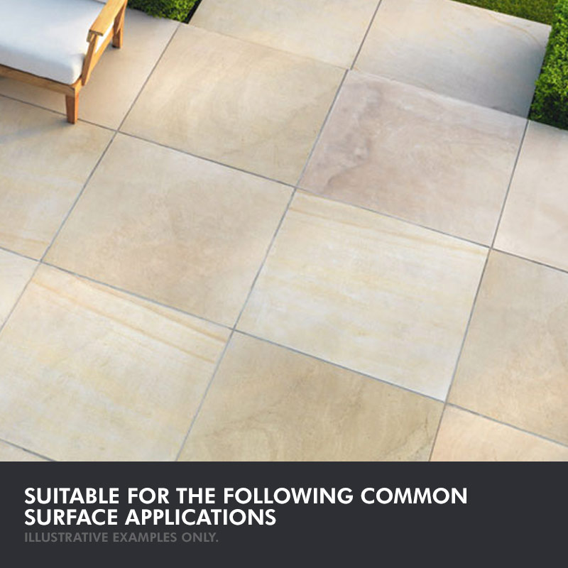patio stone sealer colour enhanced finish