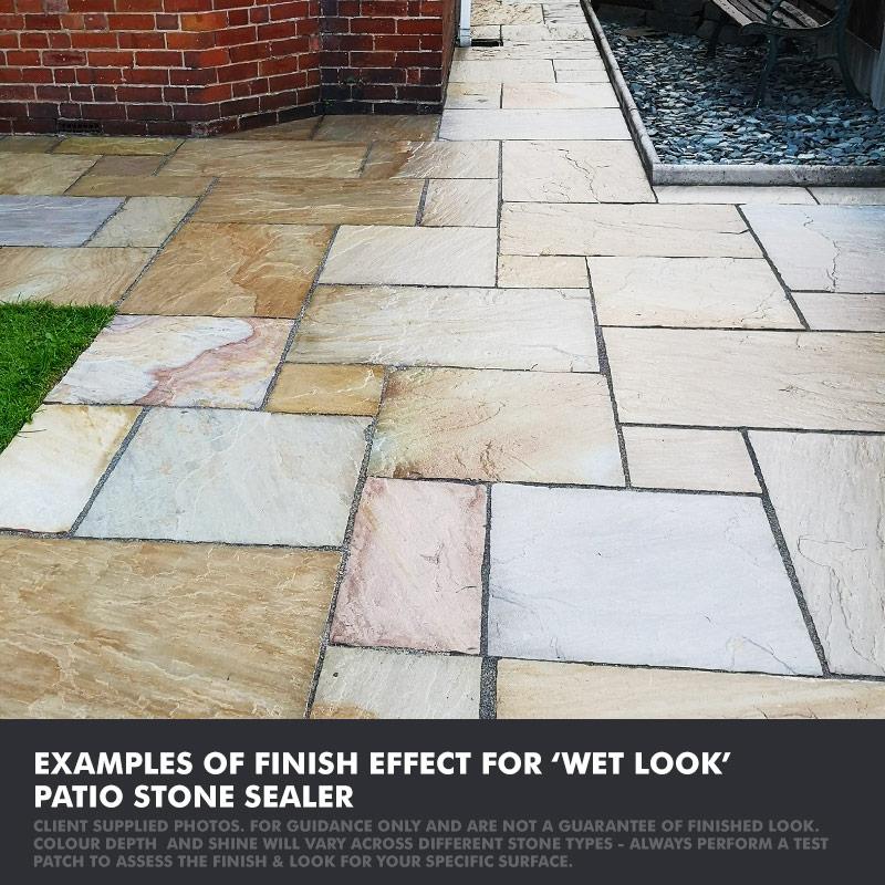 patio stone sealer wet look finish
