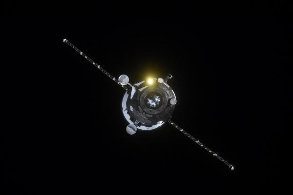 Видео дня: запуск «Прогресс МС-10» из космоса