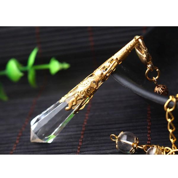 Magnifique Pendule Cristal de Roche