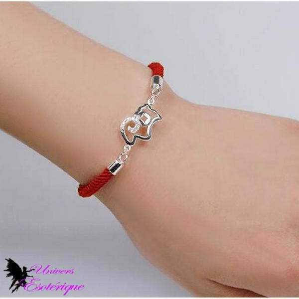 Bracelet Astro Bélier en coton tressé rouge - Univers ésotérique