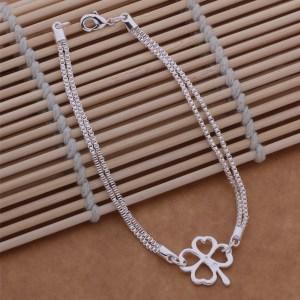 Bracelet Porte bonheur Trèfle à quatre feuilles en argent - Univers ésotérique