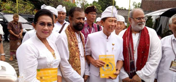 LUNCURKAN DAN SOSIALISASIKAN JURNAL BALI PRAJNA DI ACARA WORLD HINDU WISDOM MEET 2017